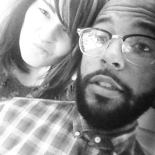 We're so cute @coreyking #interracial #interraciallove #b&w #love