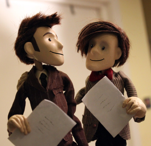 doctorpuppet:  Who's ready for the 50th Anniversary?!   Love this! Doctor Who 50th!!