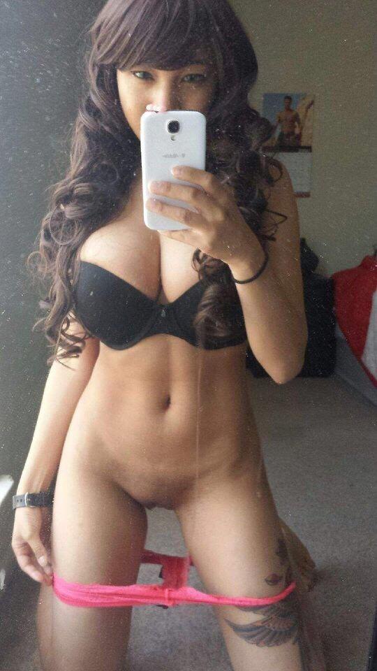 Asian panty slut black
