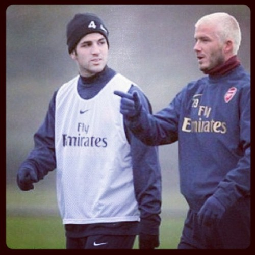 Repost! 4⃣ And 2⃣3⃣ #arsenal #fabregas #beckham