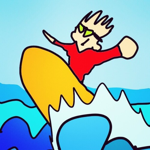 the surfer dude #illustration #wave #surf #draw #ocean