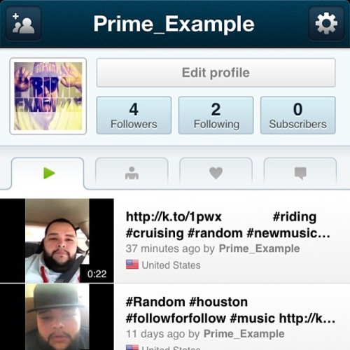 Go download the Keek app and subscribe to me! My username is Prime_Example http://keek.com/getapp (at WWW.PRIMEXAMPLE.NET)
