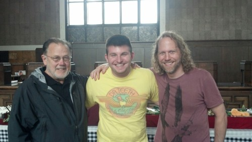 nevertoooldtolovemuppets:  muppetmindset:  Yes, I visited the set of The Muppets… Again! yesterday. No, I can't say anything. Yes, Dave Goelz and Peter Linz are incredible. Yes, the movie is going to be awesome.  You should all be increasingly jealous of Muppet Mindset's Ryan Dosier (and Tough Pigs' Matt Wilkie) for gettin gto visit the set of The Muppets… Again! in California yesterday.  I know I am!