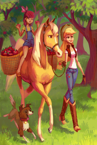 joetrifical-draws:  apple picking by *Holivi