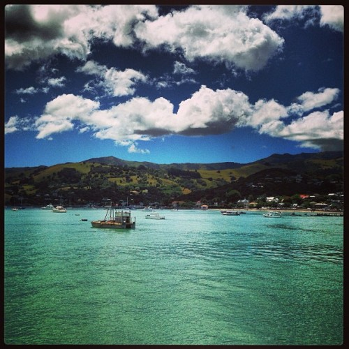 #akaroa #newzealand #harbour #clouds (at Akaroa)