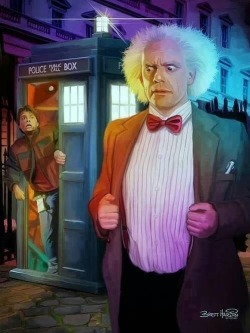 doctor who quotes TARDIS crossover mashup Back to the Future bow tie regeneration heavy marty mcfly Time Travel doc brown police box time machine Brett Hardin