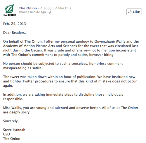 There's your apology from The Onion, folks. (thanks kateoplis)