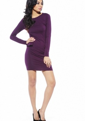 Long Sleeve Fitted Peplum Dress by AX Paris http://goo.gl/gZMyC
