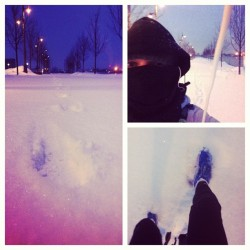 #beautiful #snow #powder #running before #dawn on #lakeontario #canada  (at Sugar Beach)