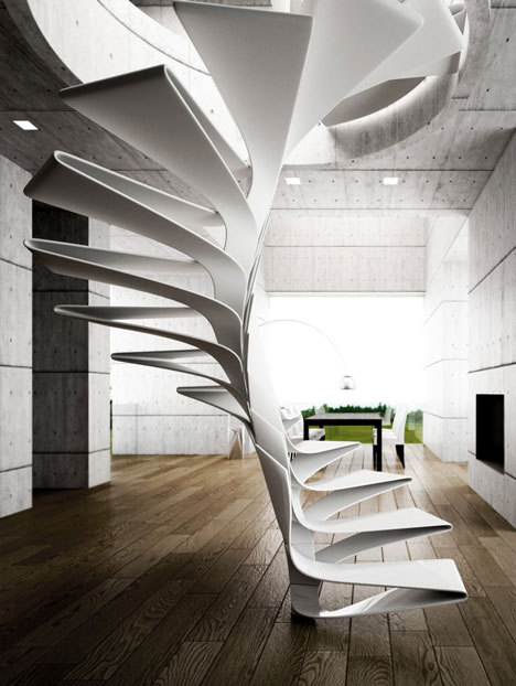 Folio Spiral Staircase by Disguincio & Co.