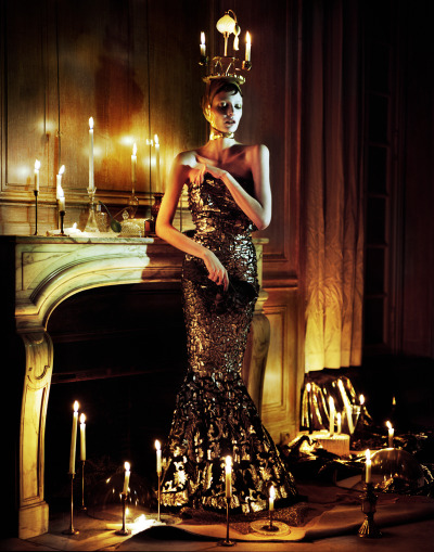 "madame-deficit:  ""Haute Couture"". Zuzanna Bijoch by Jeff Bark. Vogue Ukraine, April 2013."