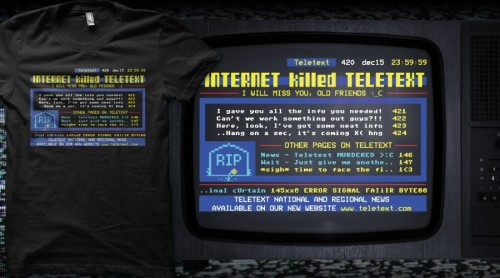 """Internet Killed the Teletext"" T-shirt by thomashy2000"