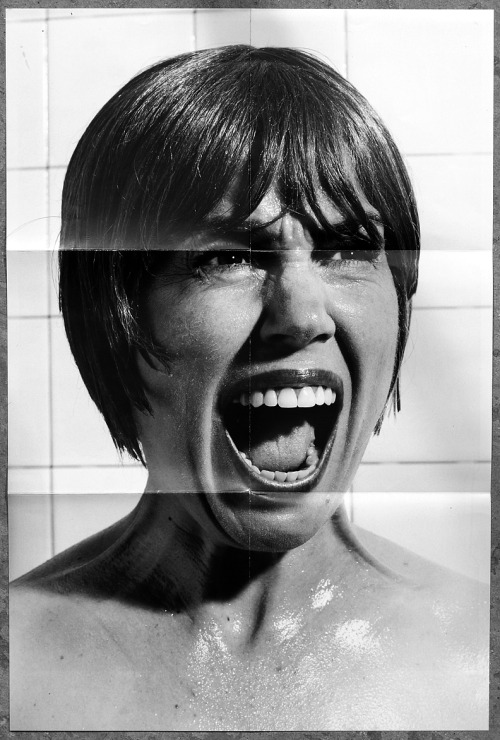 "Poster of Petra Haden as actress Janet Leigh's character from the film Psycho for Petra's ""Petra Goes To The Movies"", a mostly a'cappella album of movie theme songs out now on Anti-Records."