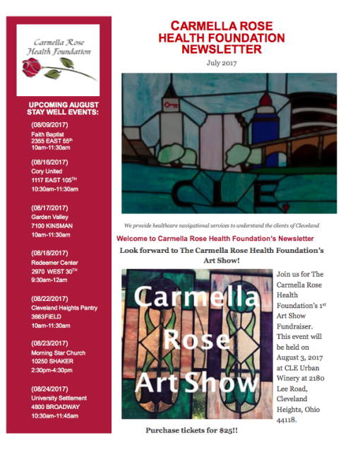 Read our Summer Newsletter❤To purchase tickets for the 1st Carmella Rose Art Show, on August 3rd, follow this link