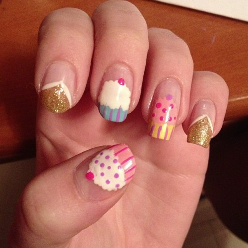 nickmillerswife:  My #nails #fashion #cupcakes #iphonesia