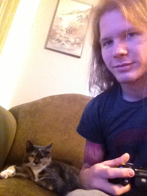 Just playing some Xbox with my kita. No big
