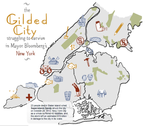 Susie Cagle/Josh Leeman - the Gilded City (2013)  I loves me some qualitative mapping, and this map combines the best in sketchy stylings with hard numbers.