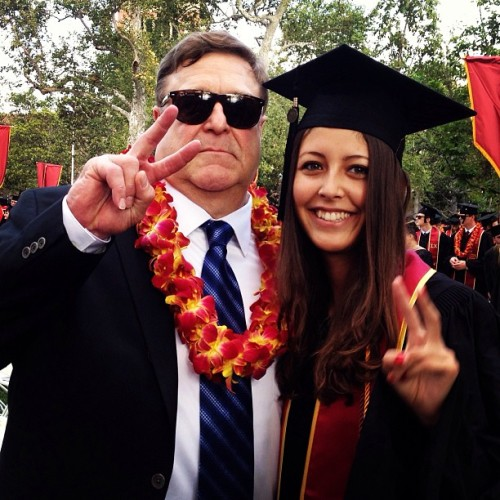 Well this happened. #usc #fighton #graduation #johngoodman