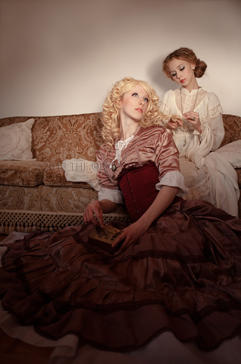 From yesterday's shooting  THE SISTERS  Models: Bloodflower and Catbimba Styling: THE.ORY Necklace: Crinoline & Monsters Assistant: AlexiS