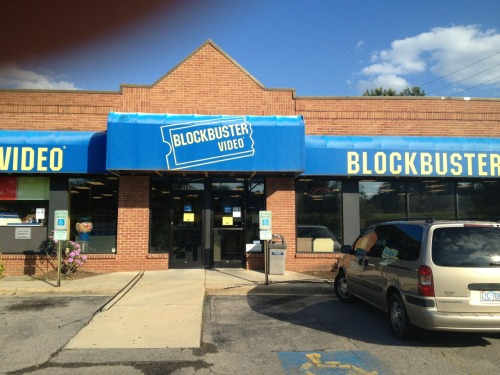 instagrim:  proof that I have time traveled   There's a blockbuster down the street! You lie!