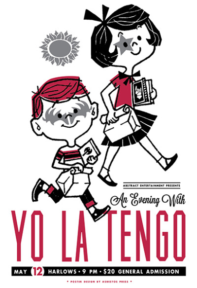 jungleindierock:  Yo La Tengo gig poster by Asbestos Press