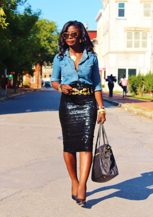 how to wear a sequined skirt. imo.