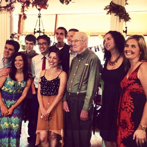 Grandpa and all his grandchildren 😊❤ #happy90th