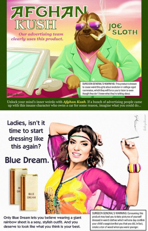 5 Ads for Legal Weed Are you more of an Afghan Kush toker or Blue Dream? Find out which weed advertisement suits you best. The outfits do compliment one another. His and hers?