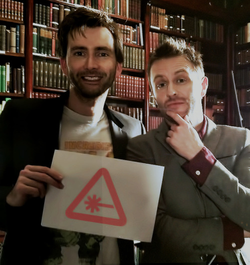 Chris Hardwick with David Tennant in London 2011