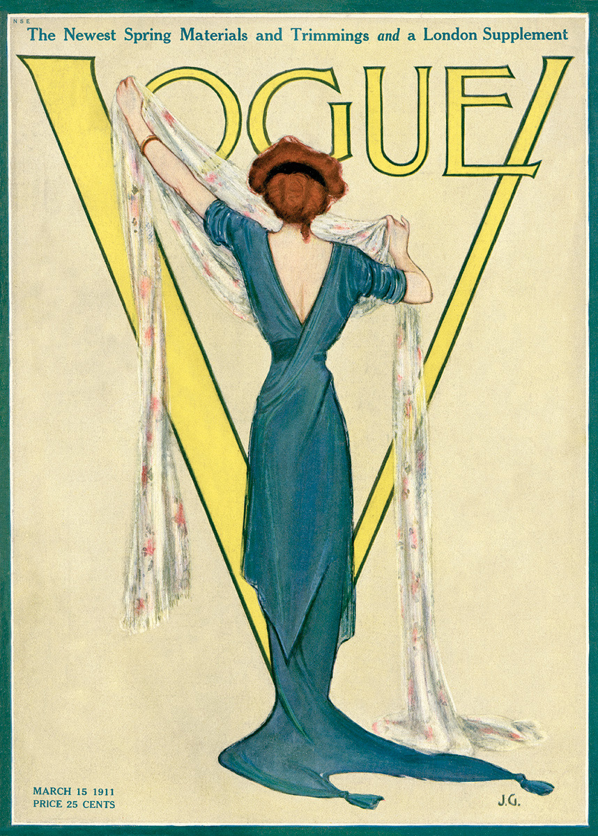 onceagarden:  Vogue, March 15 1911  (Source: imprint.printmag.com)
