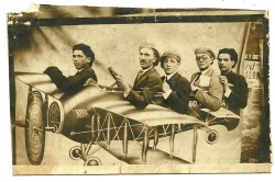 My grandfather on a plane, 1930's…second from right