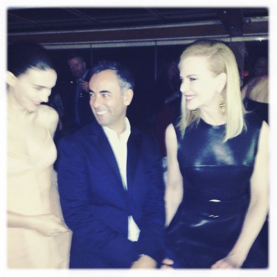 Rooney Mara, Francisco Costa and Nicole Kidman at Calvin Klein Collection's party to celebrate women in film in Cannes.
