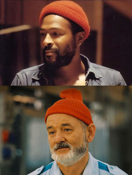 pleasekilltrevorhill:  Marvin Gaye is the original Steve Zissou. Deal with it.