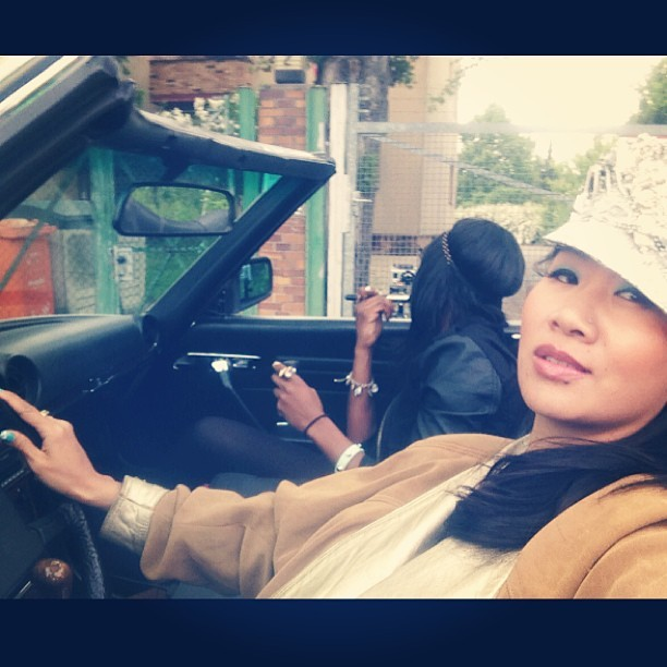 #BERLIN on the road #droptop @icedawgdadon #isissalam #makeup #musicvideo directed by @mimissonsdottir  (at Berlin)
