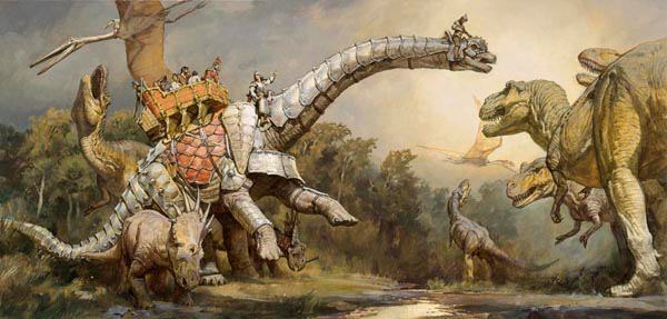 laughingsquid:  Dinotopia, Illustrated Fantasy Series About a World Shared by Dinosaurs and Humans