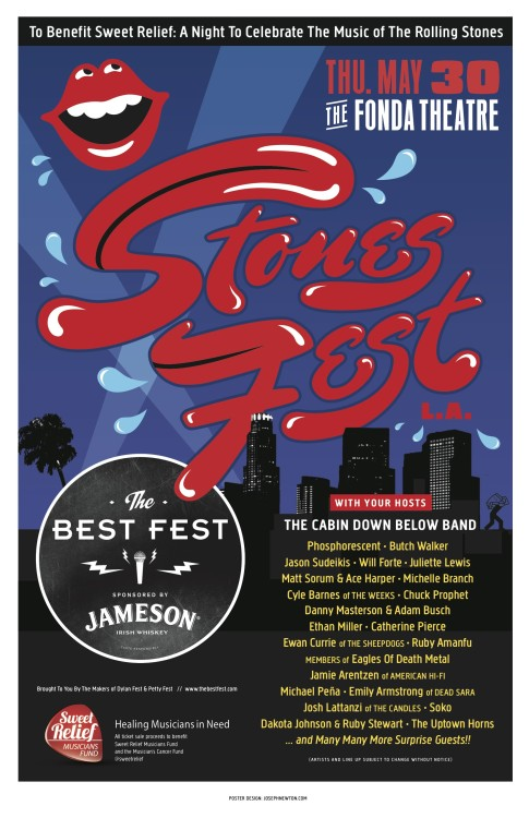 So.. don't forget to get your Tix LA!! STONES FEST is coming (MAY 30) and it is a party with lots of heart(y). great cause, great music, and some amazing surprise guests that will blow yo mind. go here for TIX. can't wait to JAM!!!!  Butch