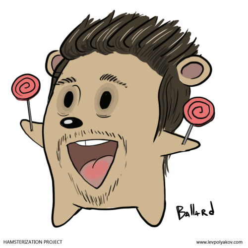 Hamsterized Ballard C. Boyd after having a very adventurous night and having no idea where he is. Check out his film reel: http://www.ballardcboyd.com/Wanna be a hamster yourself? Just join my Hamsterization event here, and I will draw you as one for free:http://www.facebook.com/events/477304032335717/ You can see more Hamsterizations on my website http://levpolyakov.com/