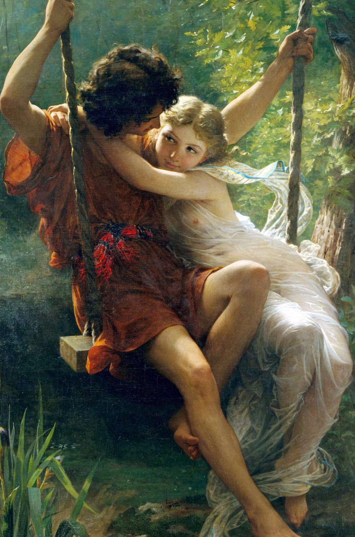 qinni:   Springtime (1873) by Pierre-August Cot  take time to appreciate the old masters' works.