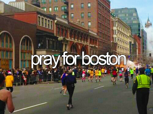 Pray for all those who were affected by todays horrible bombing in Boston. I am disgusted by this. The marathon is a positive thing that people run to raise money for charity and help others out. I dont understand why someone would want to disrupt that. Its disgusting and saddening.   Pray For Boston <3