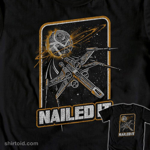 shirtoid:  Nailed It is available at WeLoveFine  Nailed it!