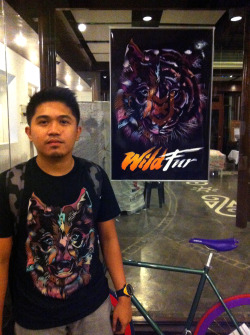 At VxV Event last saturday wearing my WILD WOLF shirt design. BUY THIS SHIRT at Threadless.com http://www.threadless.com/product/4468/Wild_Wolf