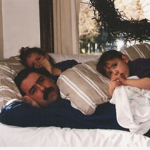 Had to post this amazing photo of my dad, sister and I .