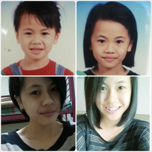 Summary of #whatpubertydidtome. I changed a lot of hairstyles along the way but black hair all along and yeah I'm a lot fairer now that I don't march and do tracks anymore. ↖(^▽^)↗But I'm a lot fatter whatevs