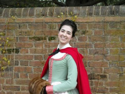 Click for my blog post, with costume details and many more photos of my 1780 levite!