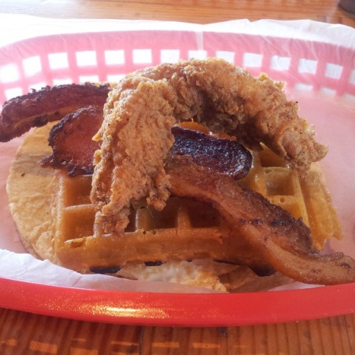 Roscoe's at Torchy's. #tacos #chickenandwaffles  (at Torchy's Tacos)