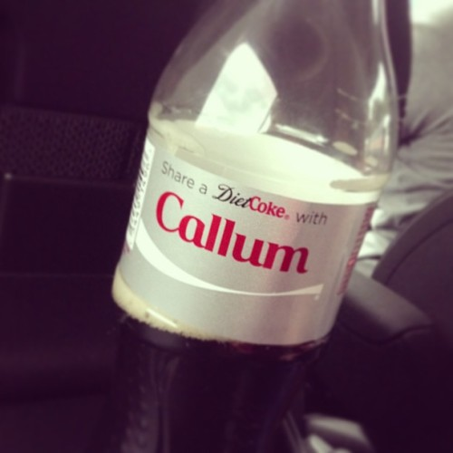 Got a #DietCoke with my cousin's name on because I felt guilty taking anyone else's!