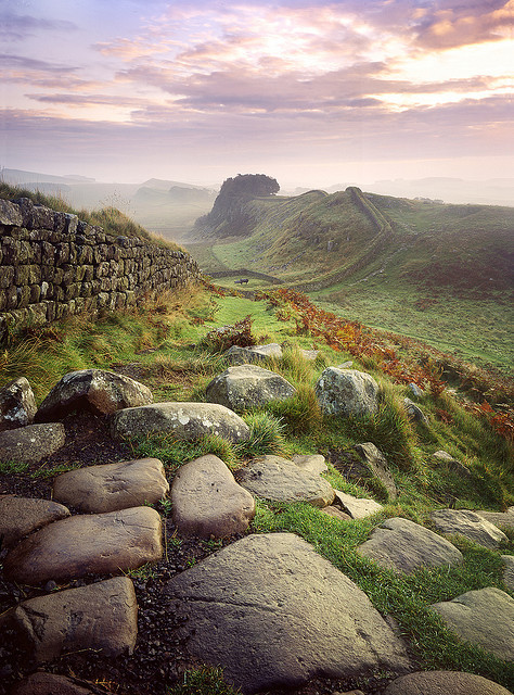 Hadrian's Wall, Housesteads, Fort, England photo via whitebeyond