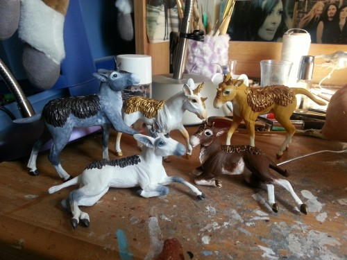 Kirin foal batch almost ready to go. They just need some hair. I should have them up for sale tonight or tomorrow; they'll be $125 each.