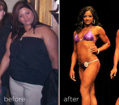 areaorion:  Zoe Pineau Transformation Zoe Pineau topped out at 275 lbs before 150 lbs through hard work, exercise and diet. No gimmicks, no photoshopping. She recently placed 10th at the NBPFA Atlantics in NB, Canada.