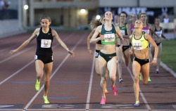 "nicerunningday:  Mary Cain 4'04""62 1500m at Oxy High Performance Los Angeles."